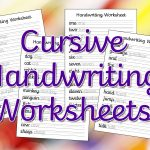 Cursive Handwriting Worksheets – Free Printable! ⋆ Mama Geek | Cursive Writing Words Worksheets Printable