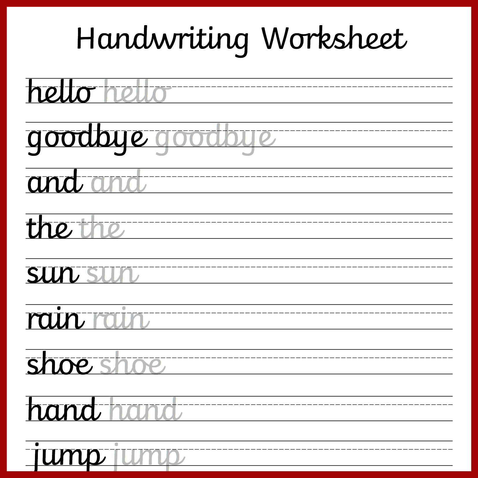 Cursive Handwriting Worksheets – Free Printable! ⋆ Mama Geek - Free | Printable Handwriting Worksheets