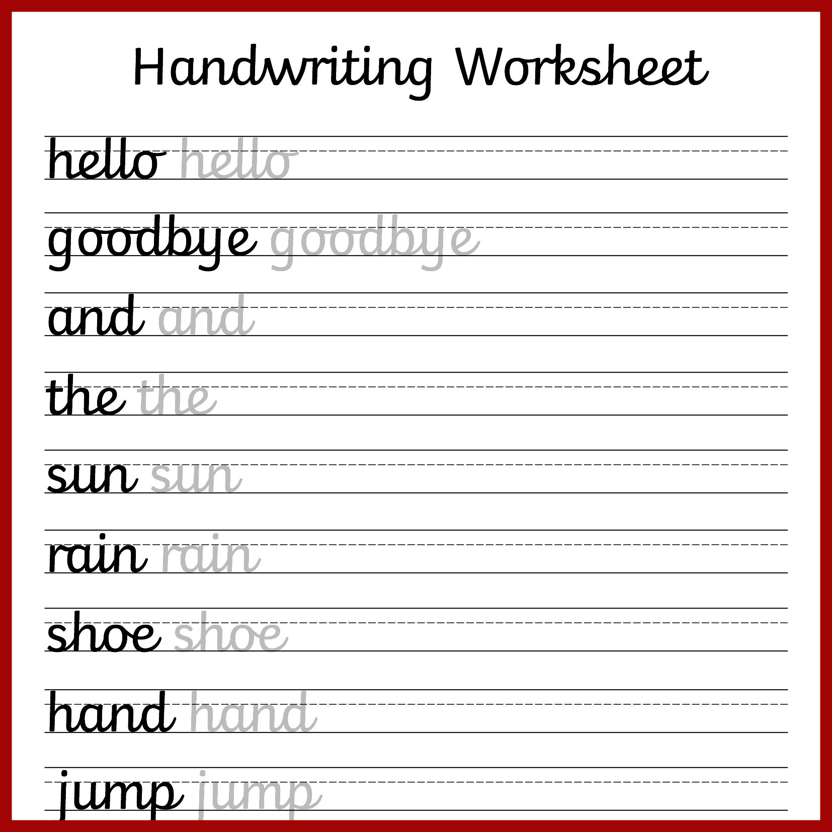 Cursive Handwriting Worksheets – Free Printable! ⋆ Mama Geek | Printable Blank Handwriting Worksheets