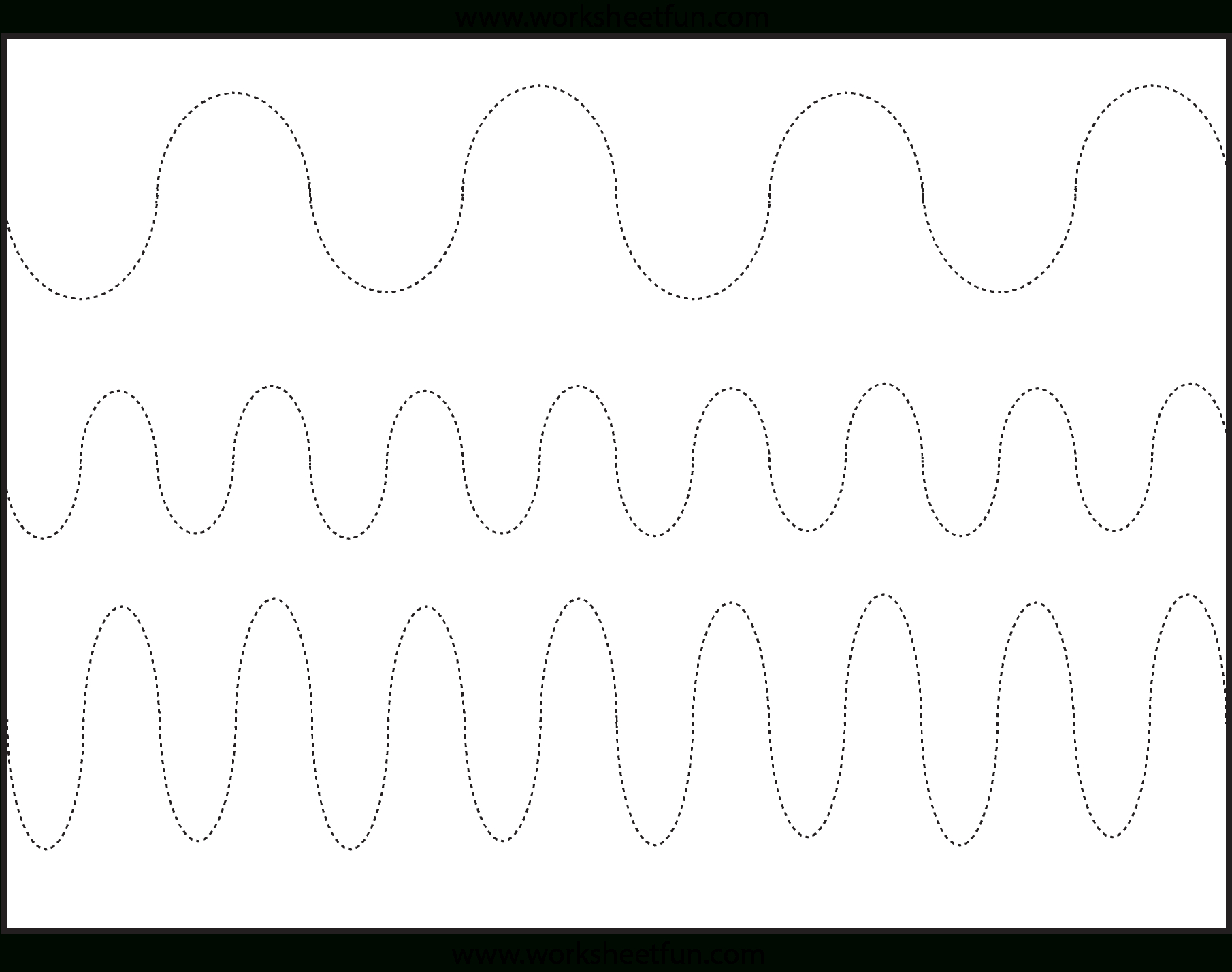 Curved Line Tracing – 3 Worksheets / Free Printable Worksheets | Tracing Lines Worksheets Printable