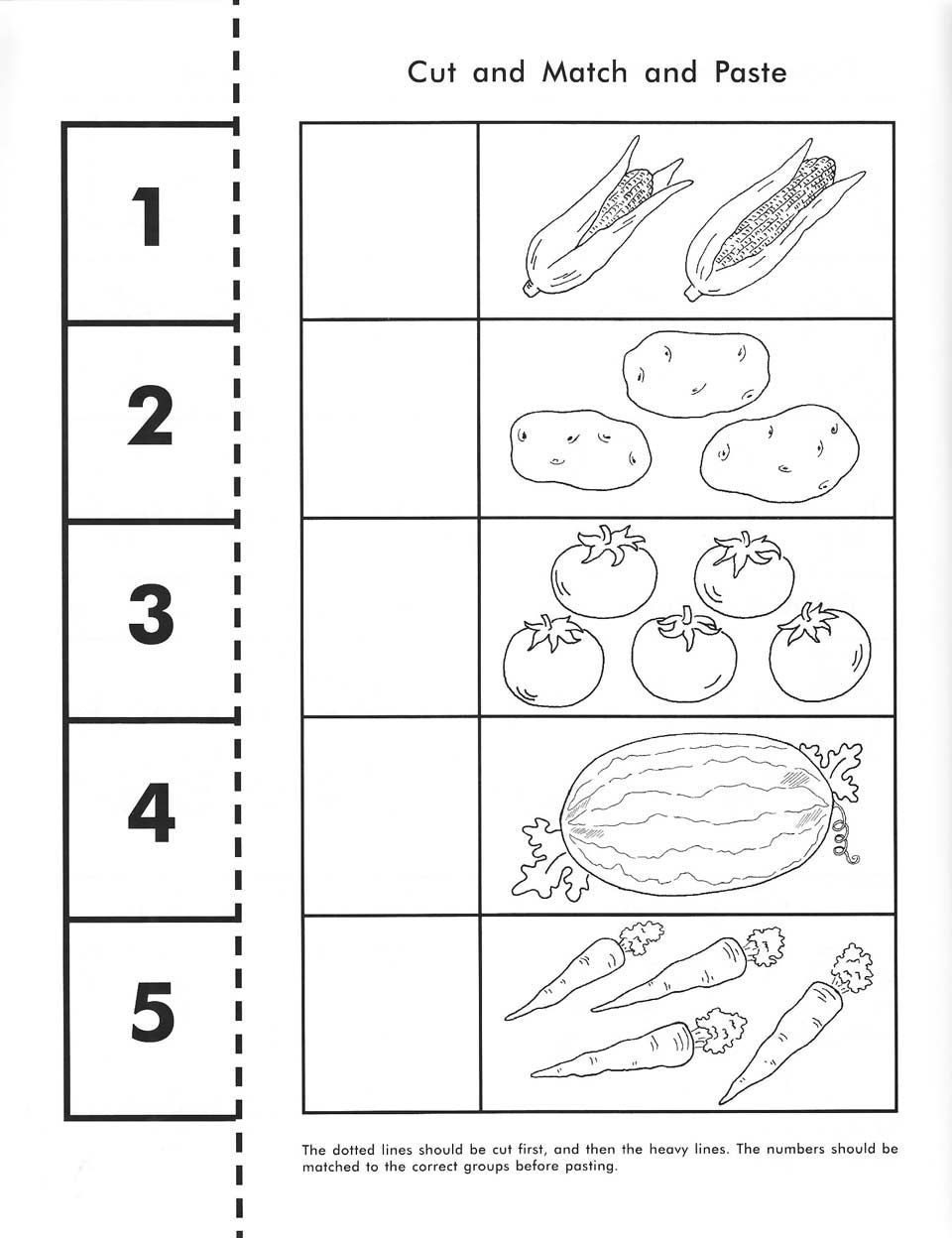 Cut, Count, Match And Paste / Free Printable | Pre-K Math | Printable Worksheets For Pre K Students