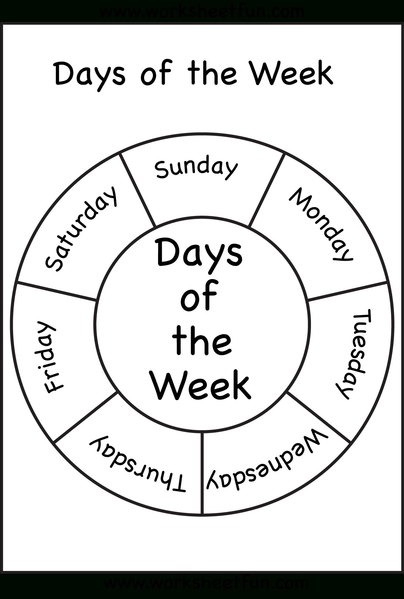 Days Of The Week   Days Of The Week!   Preschool, Preschool   Days Of The Week Printable Worksheets