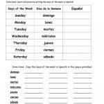 Days Of The Week In Spanish Worksheet   Free Esl Printable | Free Printable Spanish Worksheets Days Of The Week