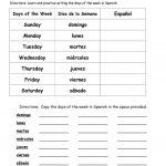 Days Of The Week In Spanish Worksheet   Free Esl Printable | Free Printable Spanish Worksheets For Beginners