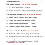 Dialy Routines. Translate From Spanish To English Worksheet   Free | Year 10 English Worksheets Printable