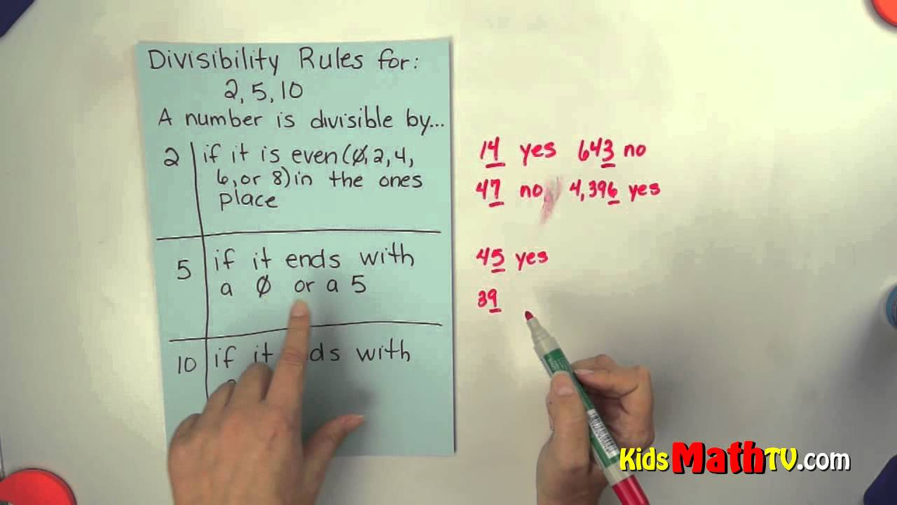 Divisibility Rules If Dividing2, 5 And 10. Teach Kids Easy | Divisibility Worksheets Printable