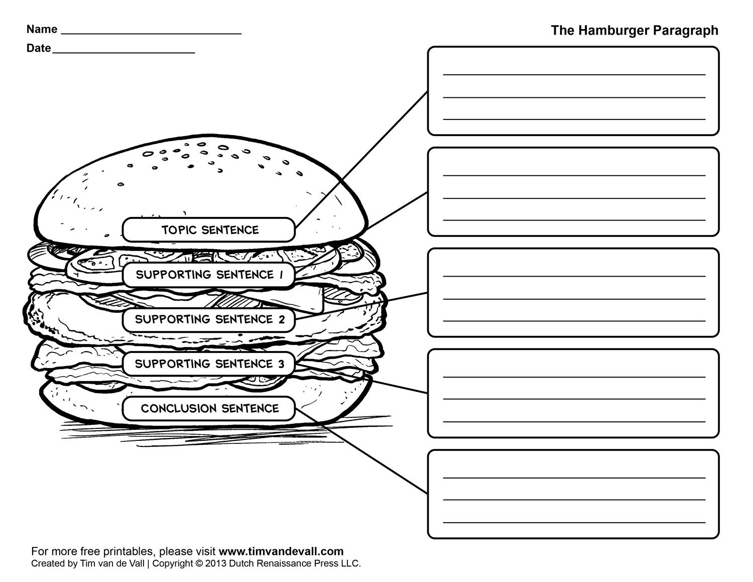 Download: Graphic Organizers To Help Kids With Writing   Graphic   Free Printable Paragraph Writing Worksheets