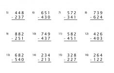 Free Printable Addition And Subtraction Worksheets With Regrouping