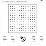 Download Our Free Word Search Puzzle   All About Insects | Butterfly Word Search Printable Worksheets