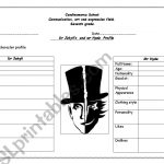 Dr Jekyll's And Mr Hyde   Esl Worksheetrosangie | Dr Jekyll And Mr Hyde Printable Worksheets