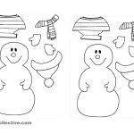 Dress The Snowman For Winter! Worksheet   Free Esl Printable | Snowman Worksheet Printables