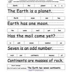 Earth Day Crafts Enchantedlearning. | Grade 1   Free Printable | Free Printable Scrambled Sentences Worksheets