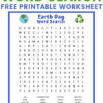 Earth Day Word Search Free Printable Worksheet | Earth Printable Worksheets