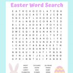 Easter Word Search Free Printable Worksheet For Kids | Free Printable Easter Activities Worksheets