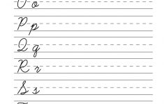 Printable Cursive Worksheets Az