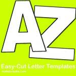 Easy Cut Letter Template   Crafts   Pinterest   Letter Templates   Free Printable Versatiles Worksheets