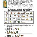 Egypt Hieroglyphs   Esl Worksheetshellytkhr | Printable Decoding Worksheets