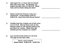 Free Printable Elapsed Time Worksheets For Grade 3