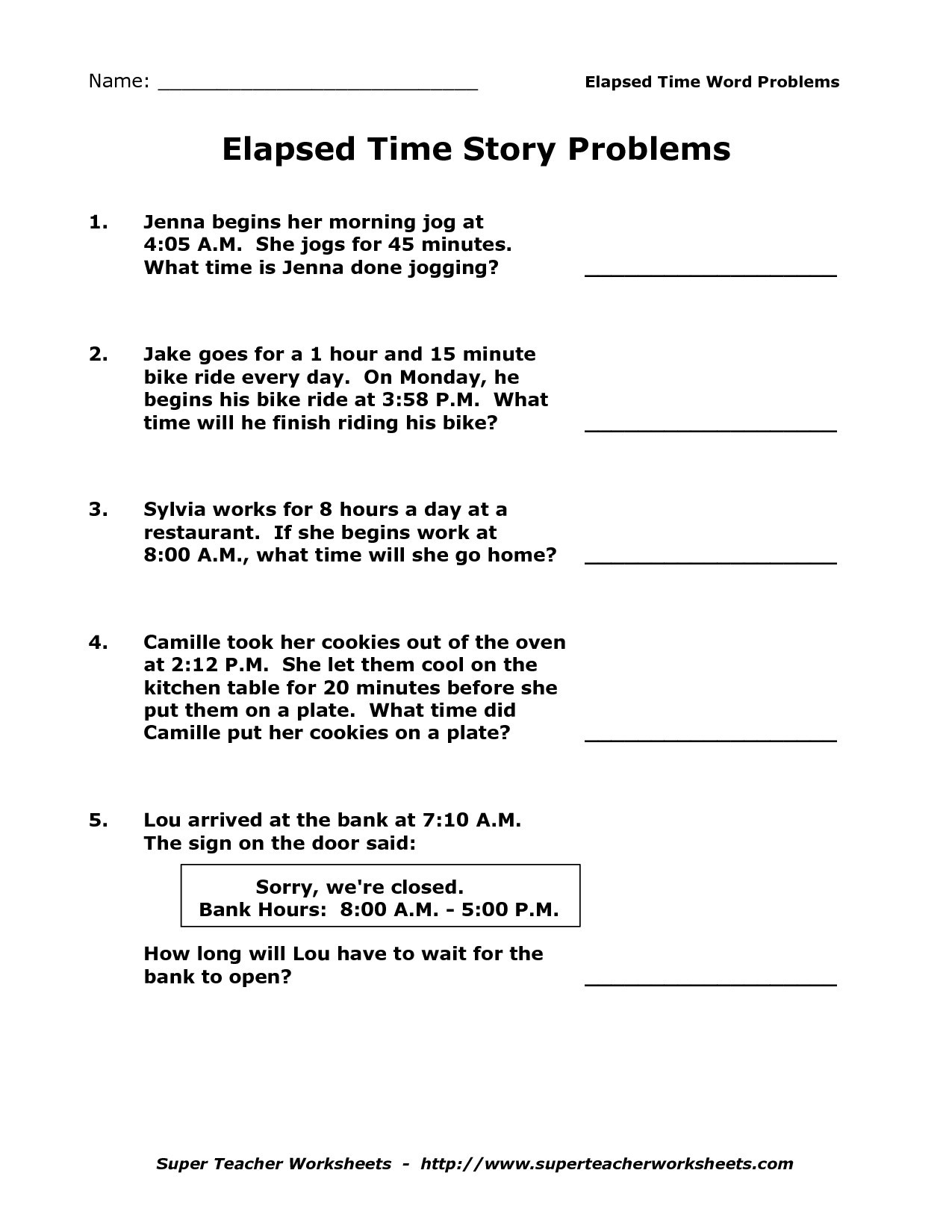 Elapsed Time Worksheets 3Rd Grade To Learning - Math Worksheet For | Free Printable Elapsed Time Worksheets For Grade 3