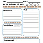 Elementary Book Report Template On Book Report Worksheet Printable   Book Report Printable Worksheets
