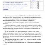 Elvis Presley's Biography Worksheet   Free Esl Printable Worksheets | Printable Biography Worksheets