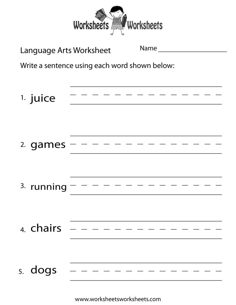 English Language Arts Worksheet - Free Printable Educational | Free Printable Worksheets For 3Rd Grade Language Arts