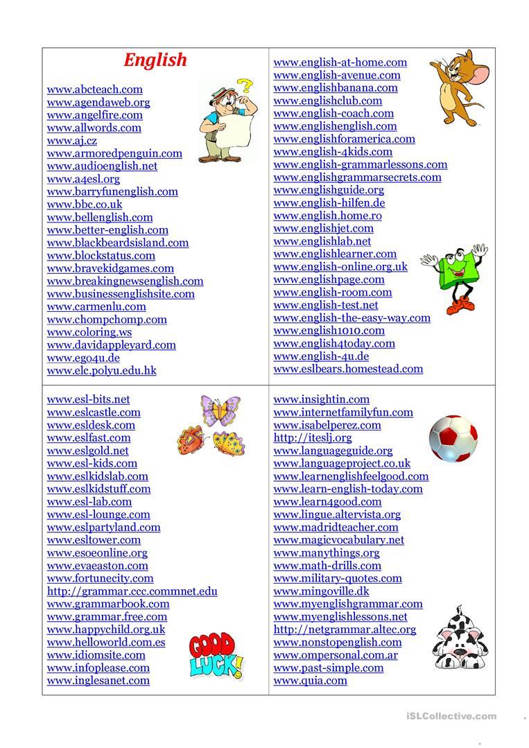English Sites Worksheet - Free Esl Printable Worksheets Madeteachers | Teacher Websites Free Printable Worksheets