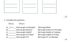 English Test Printable Worksheets