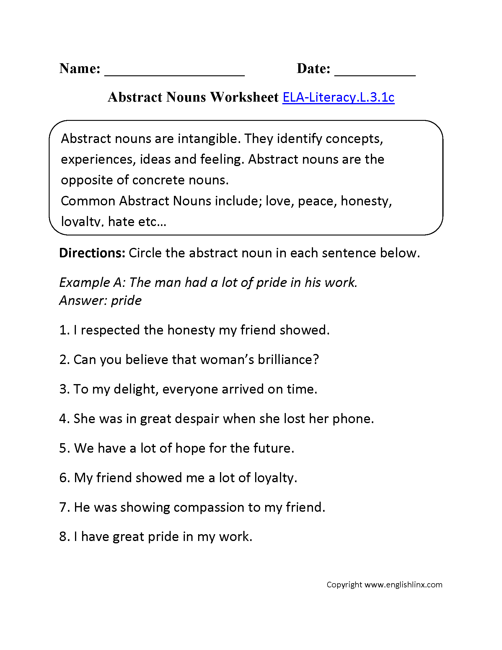 English Worksheets | 3Rd Grade Common Core Worksheets | 3Rd Grade English Worksheets Printable