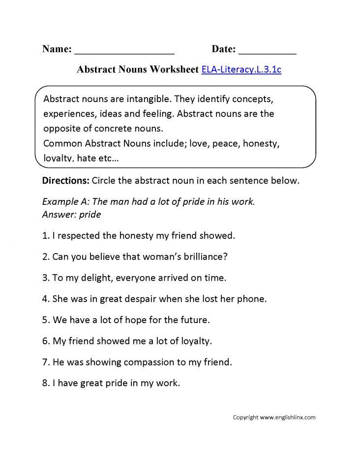 3Rd Grade Language Arts Worksheets Free Printable