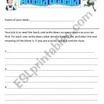 English Worksheets: Amelia Bedelia (Idioms) | Amelia Bedelia Printable Worksheets