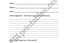 Current Events Printable Worksheet
