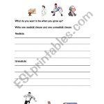 English Worksheets: Hopes And Dreams | Hopes And Dreams Printable Worksheet