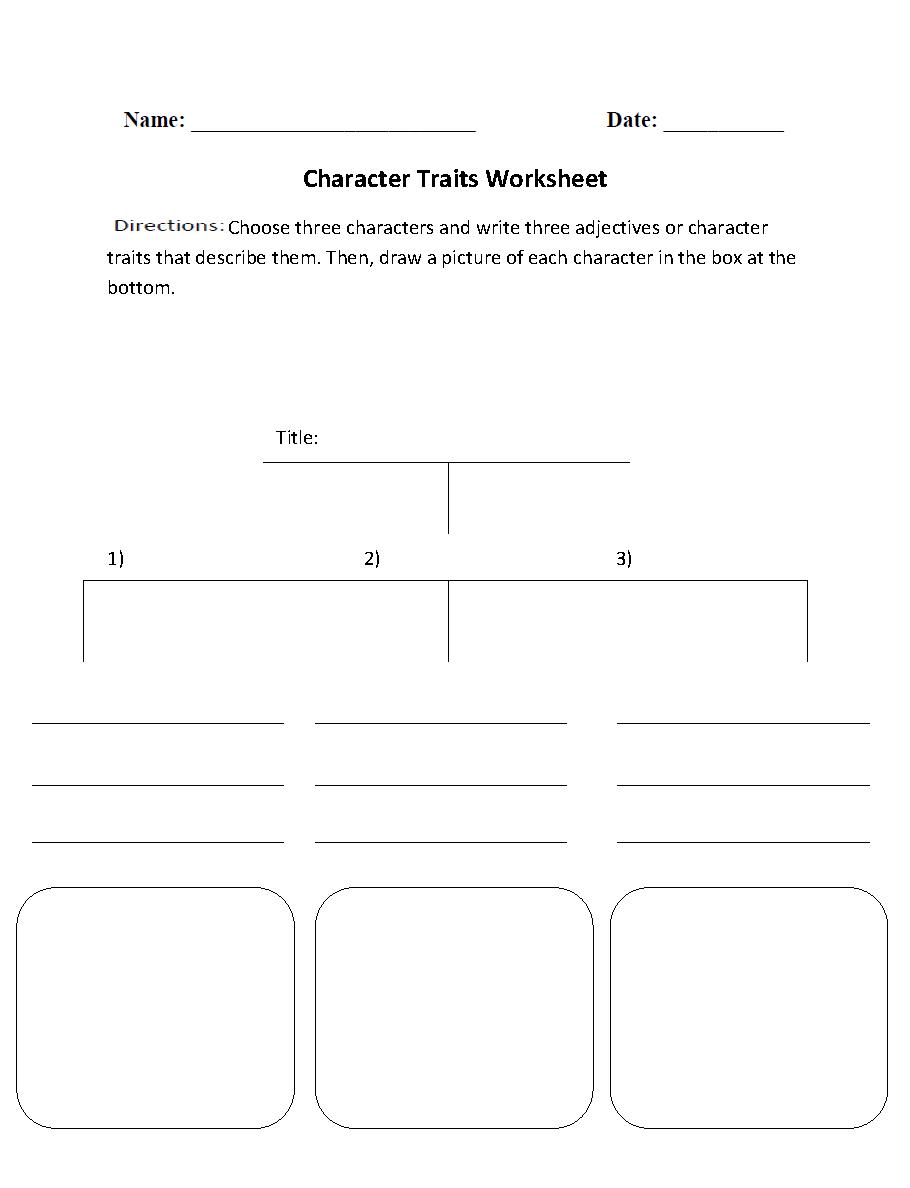 Englishlinx | Character Analysis Worksheets | Printable Character Traits Worksheets