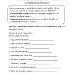 Englishlinx | Clauses Worksheets | Year 9 English Worksheets Printable