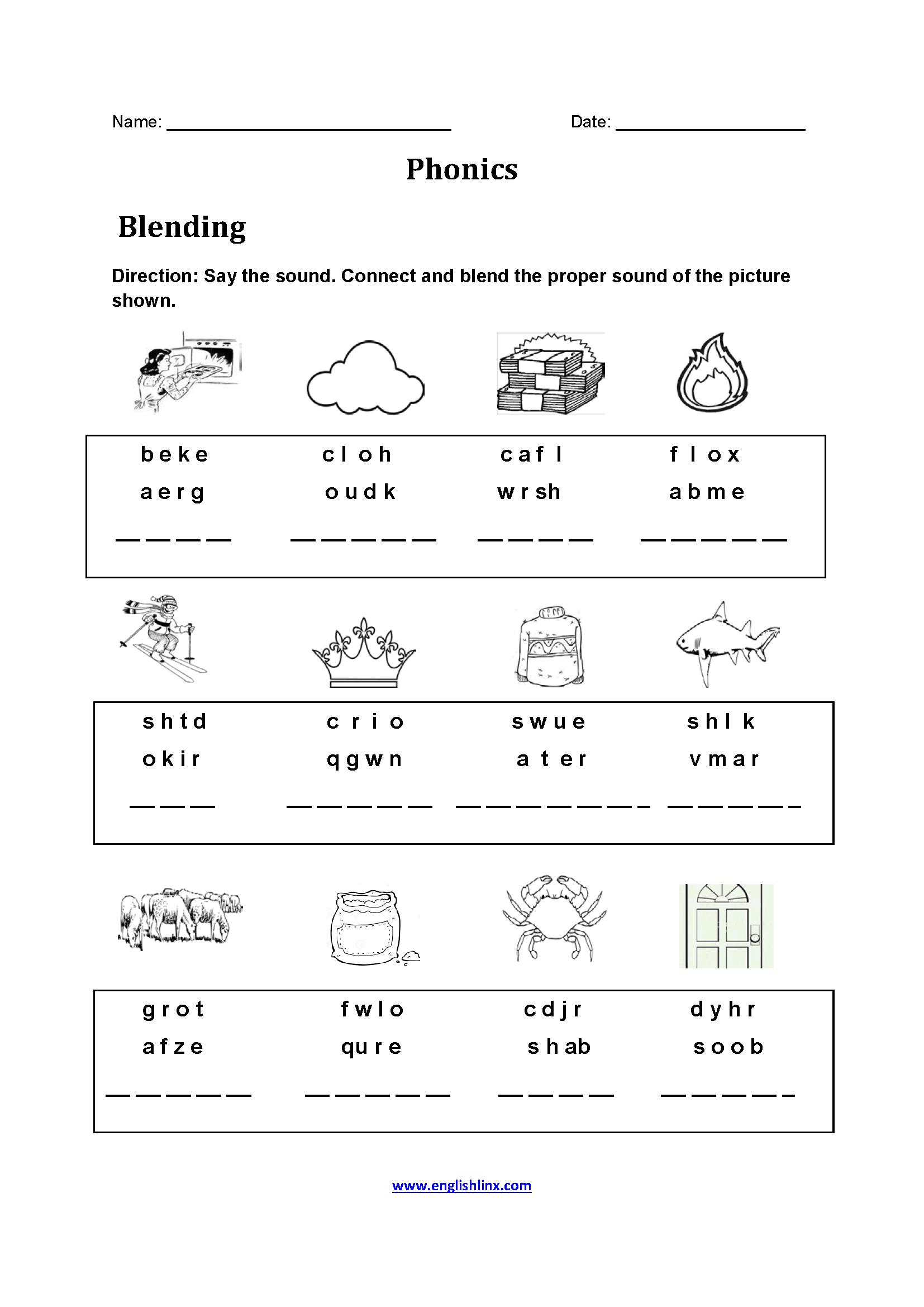 Englishlinx | Phonics Worksheets | Phonics Worksheets For Adults Printable