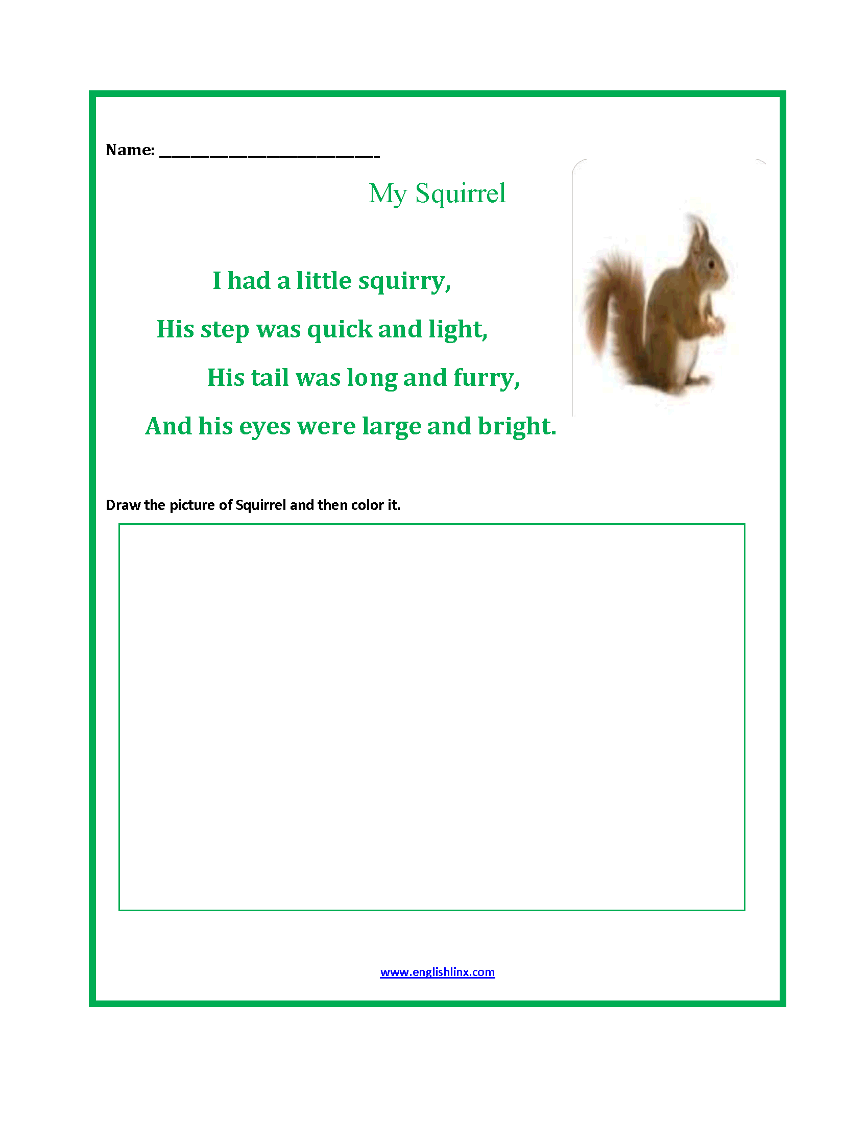 Englishlinx | Poetry Worksheets | Free Printable Poetry Worksheets