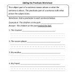 Englishlinx | Subject And Predicate Worksheets   Free Printable | Free Printable Subject Predicate Worksheets 2Nd Grade