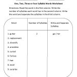 Englishlinx | Syllables Worksheets   Free Printable Open And Closed | Free Printable Syllable Worksheets For Kindergarten