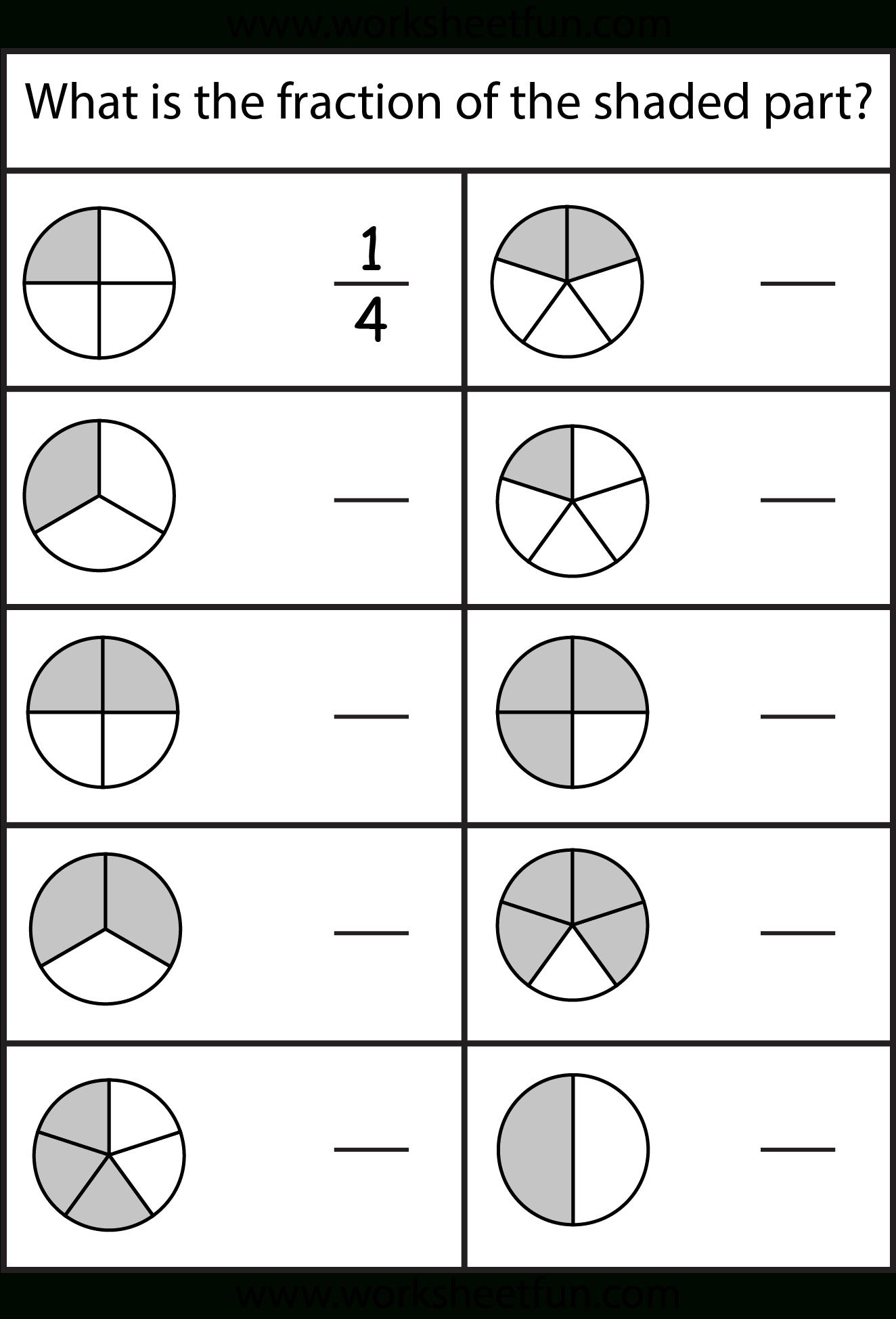 Equivalent Fractions Worksheet / Free Printable Worksheets | Free Printable First Grade Fraction Worksheets