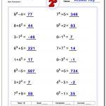 Exponents Worksheets | 5Th Grade Exponents Printable Worksheets