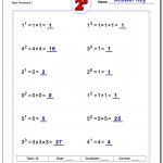 Exponents Worksheets | Free Printable Exponent Worksheets