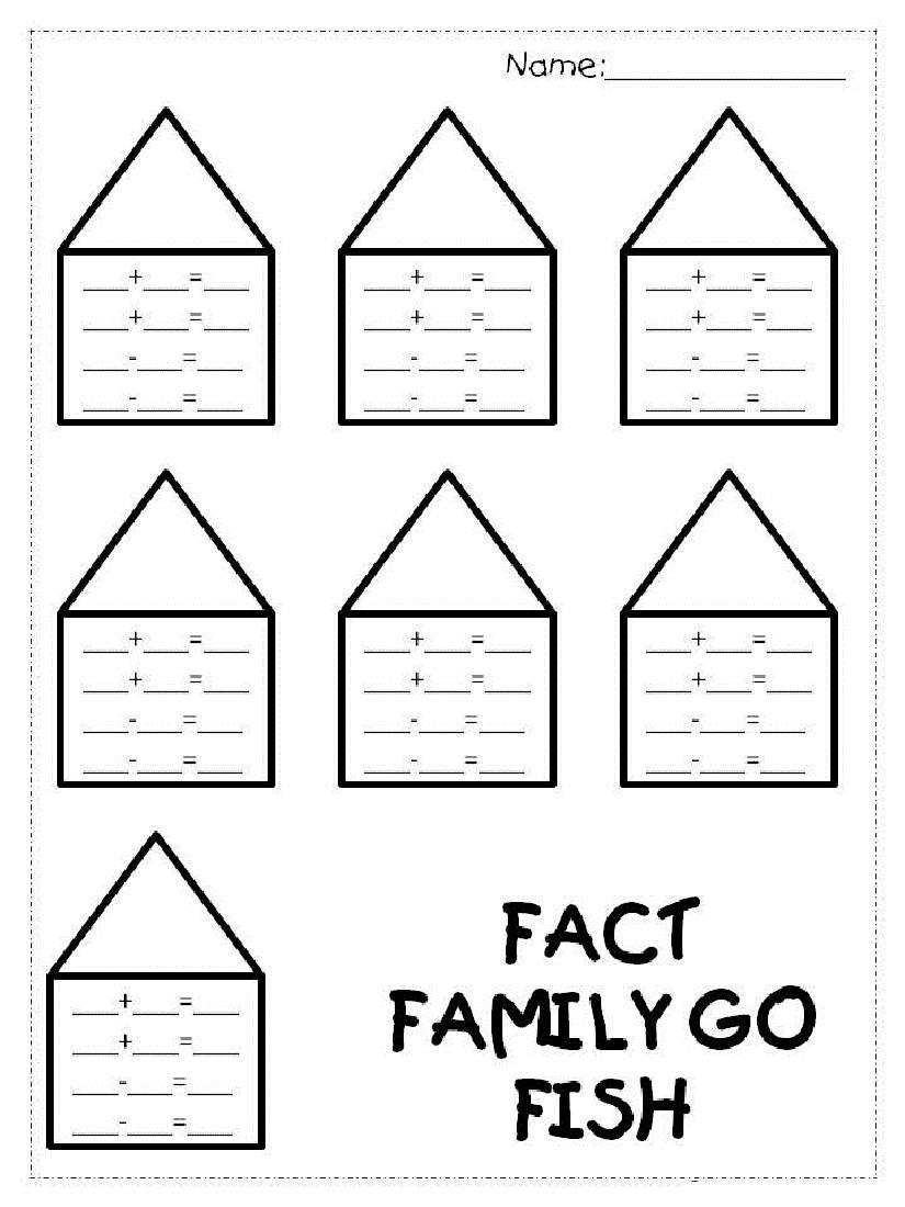 Fact Family Worksheets 1St Grade   Kiddo Shelter   Free Printable Multiplication Division Fact Family Worksheets