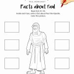 Facts About Paul Printable Bible Worksheet | Adventure Zone | Bible | Bible Printable Worksheets