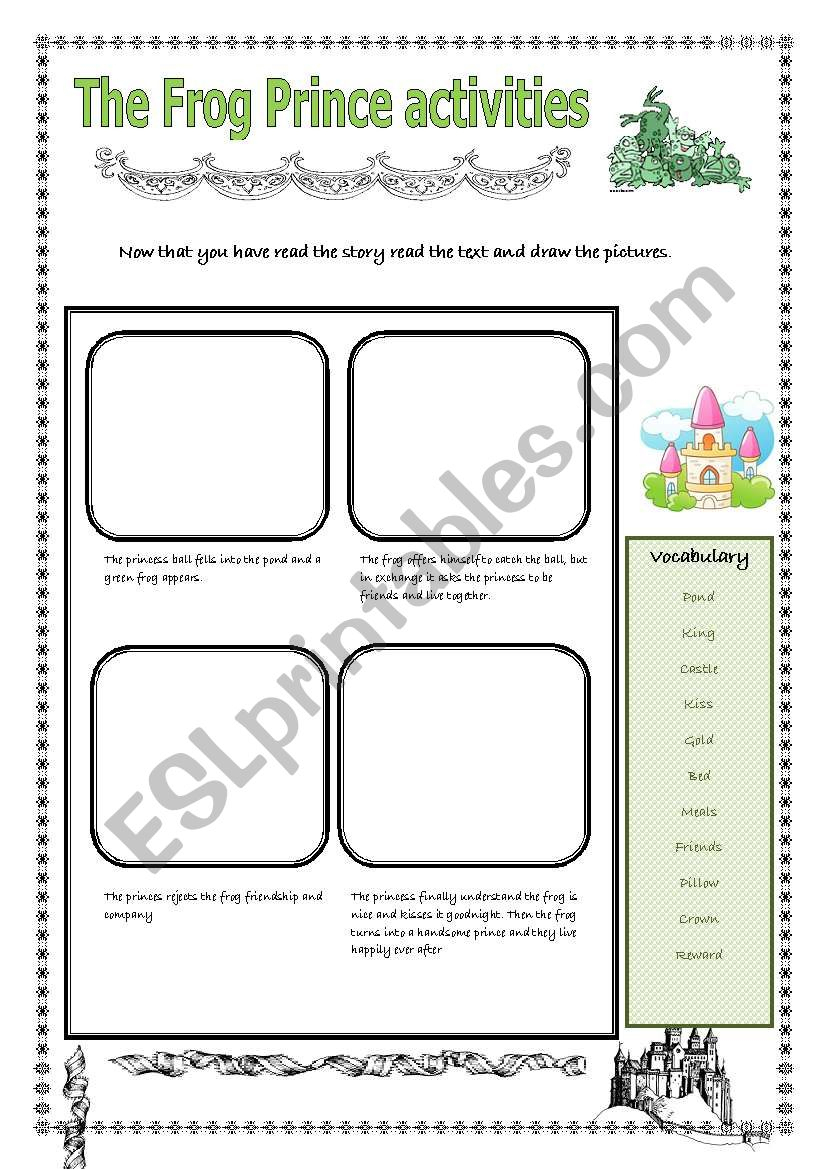 Fairy Tales: The Frog Prince Activities - Esl Worksheetpastanaga | The Frog Prince Worksheets Printable