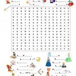 Fairy Tales.wordsearch Worksheet   Free Esl Printable Worksheets | Fairy Tales Printable Worksheets