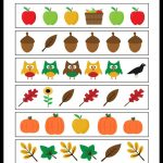 Fall Math Packet For Preschoolers | Free Printable Fall Math Worksheets