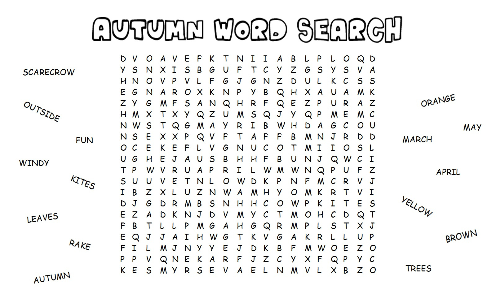 Fall Word Search For Brain Training | Activity Shelter | Fall Word Search Printable Worksheets