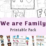 Family Theme Preschool And Family Worksheets For Kindergarten   Fun | Family Printable Worksheets