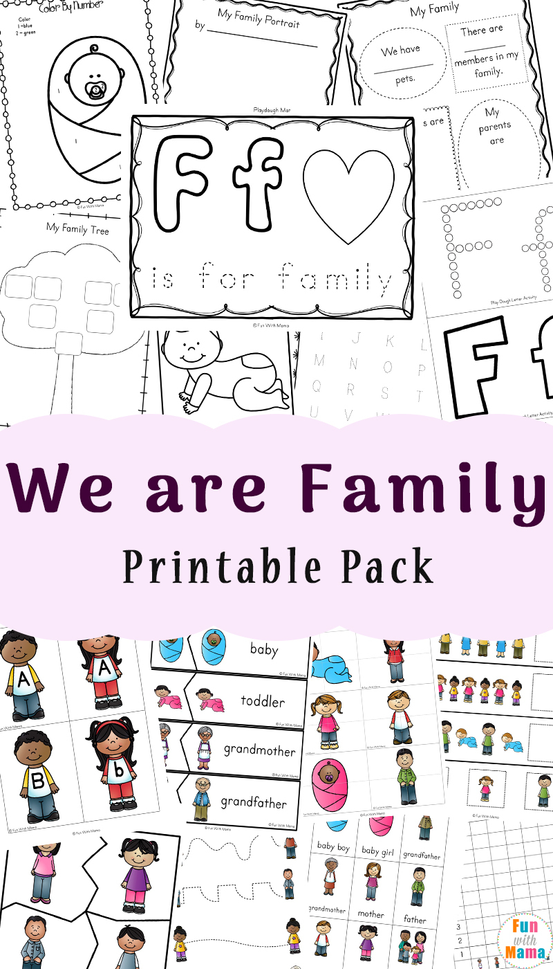 Family Theme Preschool And Family Worksheets For Kindergarten - Fun | Family Printable Worksheets